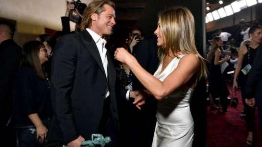 Publican la primera foto de la reunión virtual entre Brad Pitt y Jennifer Aniston
