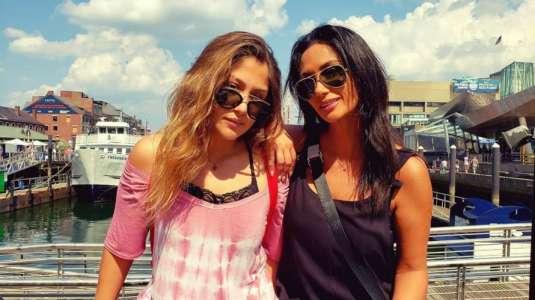 Pamela Díaz bromea sobre su parecido con su hija Trinidad