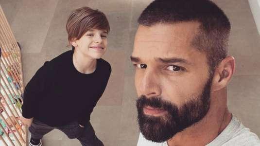 Ricky Martin compartió lo grande que está su hijo mayor