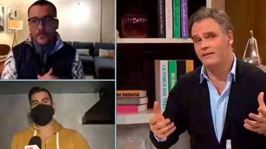 Esposa de Max Collao aparece en pijama durante despacho del periodista