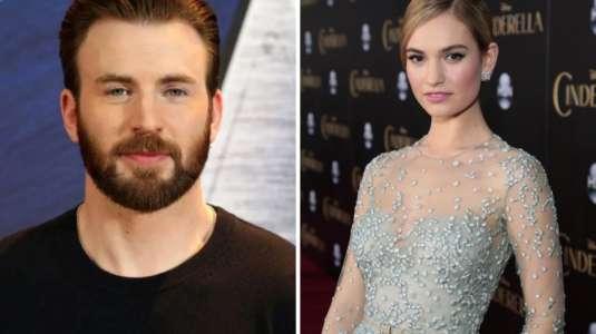 Captan a Chris Evan y Lily James muy cercanos: tendrían un romance