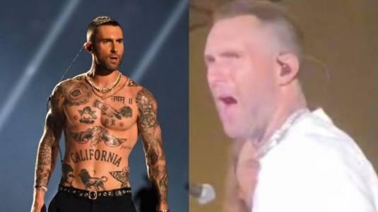 """¡No cambia! Adam Levine reacciona """"con asco"""" luego de que una fan subiera al escenario"""