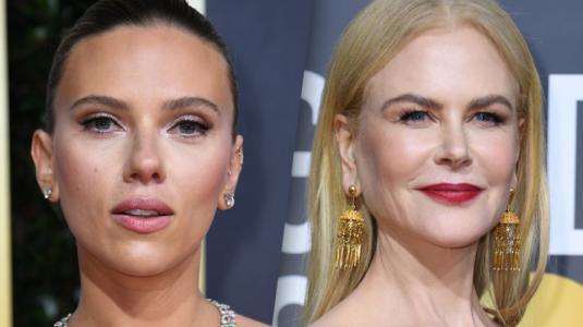 ¿Se pusieron de acuerdo? Nicole Kidman y Scarlett Johansson llegan con looks similares a los Globos de Oro