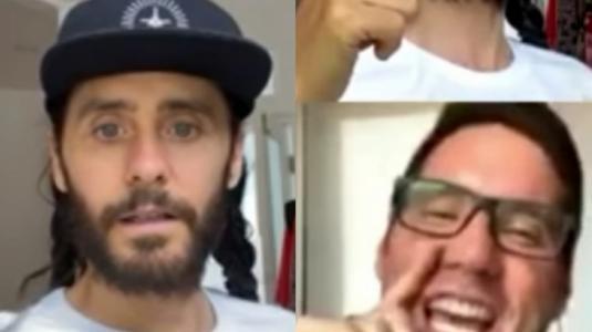 Pancho Saavedra participó en transmisión en vivo de Jared Leto