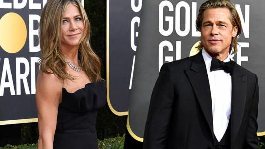 La tierna reacción de Jennifer Aniston al discurso de Brad Pitt en los Golden Globes 2020