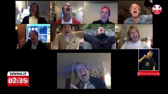 Stefan Kramer reunió a todos sus personajes en una videollamada