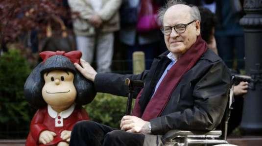 A los 88 años de edad fallece el ilustrador Quino, creador de Mafalda