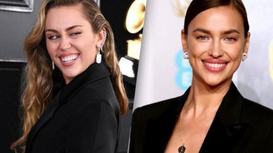 Miley Cyrus e Irina Shayk iguales en noche de premiaciones