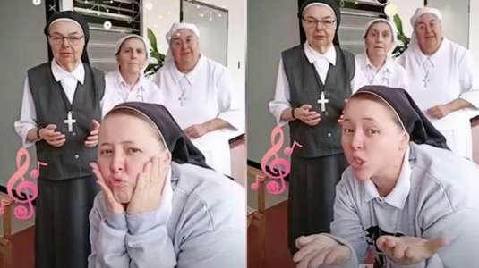 Monjas de Tik Tok causan furor con divertidos videos