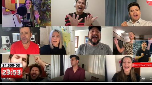 "Artistas chilenos se unieron para cantar ""Resistiré"" por la Teletón 2020"