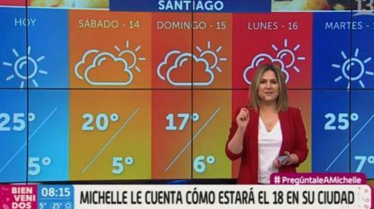 """Michelle Adam: """"Hay 55% de probabilidad de precipitaciones"""" en Fiestas Patrias"""