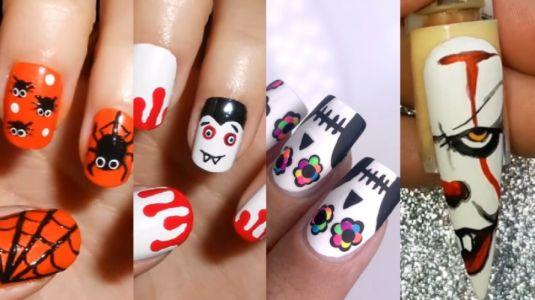 Inspírate con estos 13 tutoriales de diseños de uñas para Halloween