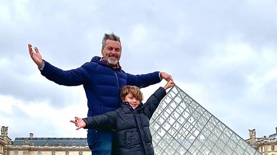 Cristián Sánchez muestra lo grande que está su hijo