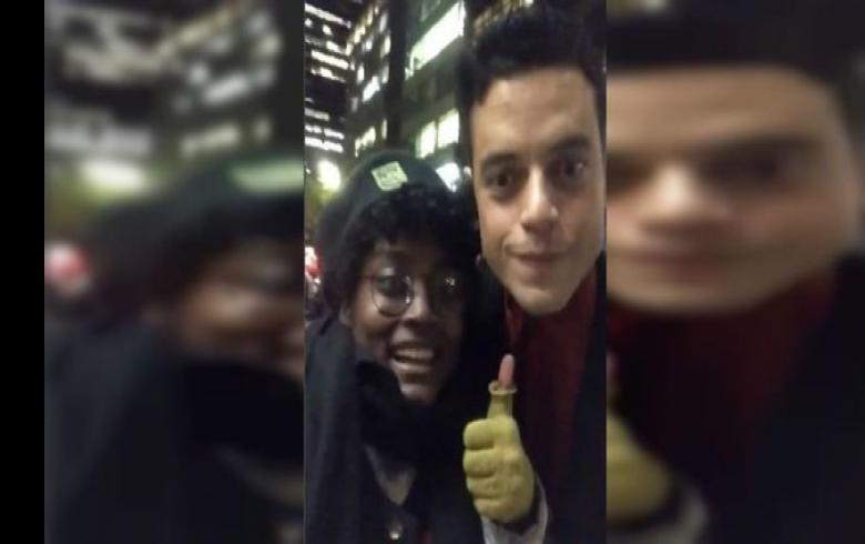 El incómodo momento que vivió una fan al querer grabar al actor Rami Malek