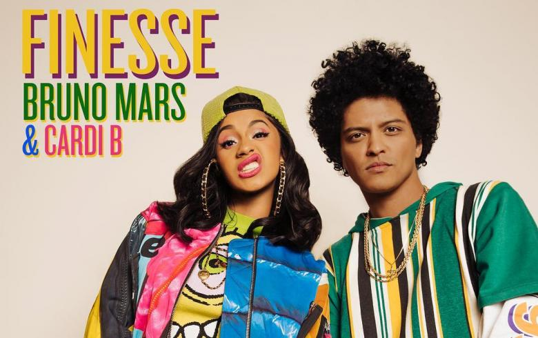 Bruno Mars y Cardi B se unen para el colorido video 'Finesse'