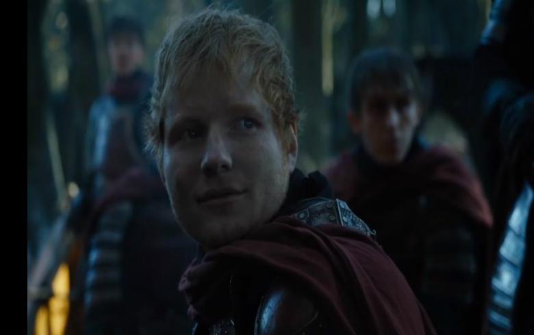 La comentada aparición de Ed Sheeran en el estreno — Game of Thrones