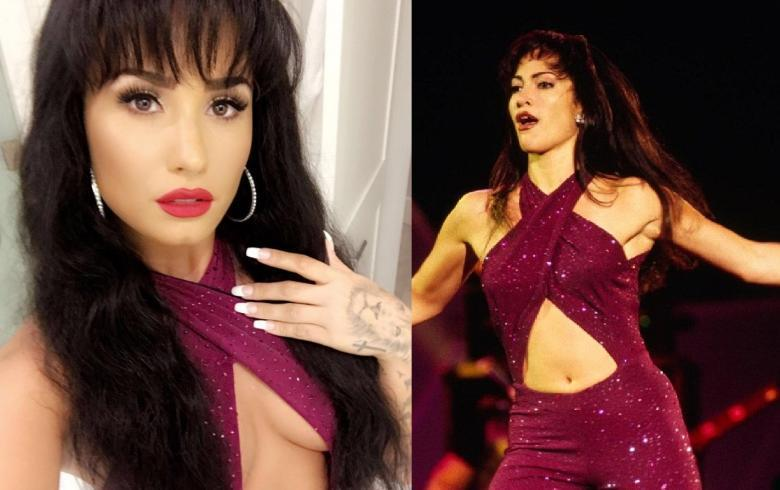 Demi Lovato se disfraza de Selena