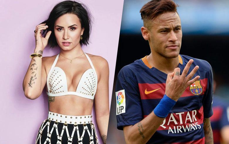 [Video] Neymar ¿detrás de Demi Lovato?