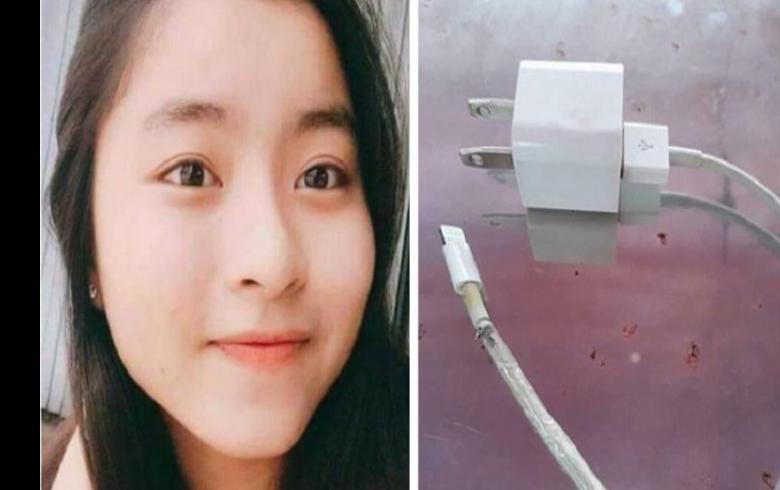 Fallece joven electrocutada por el cargador de su celular mientras dormía