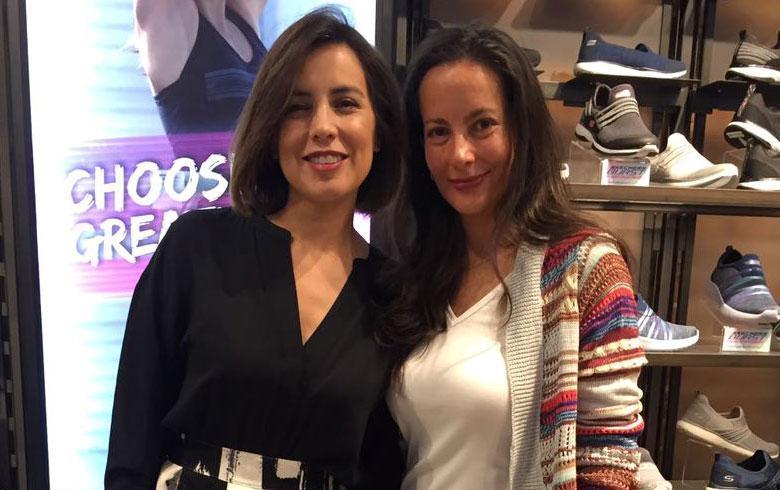 Todos los looks de la inauguración de Skechers en el Mall Costanera Center
