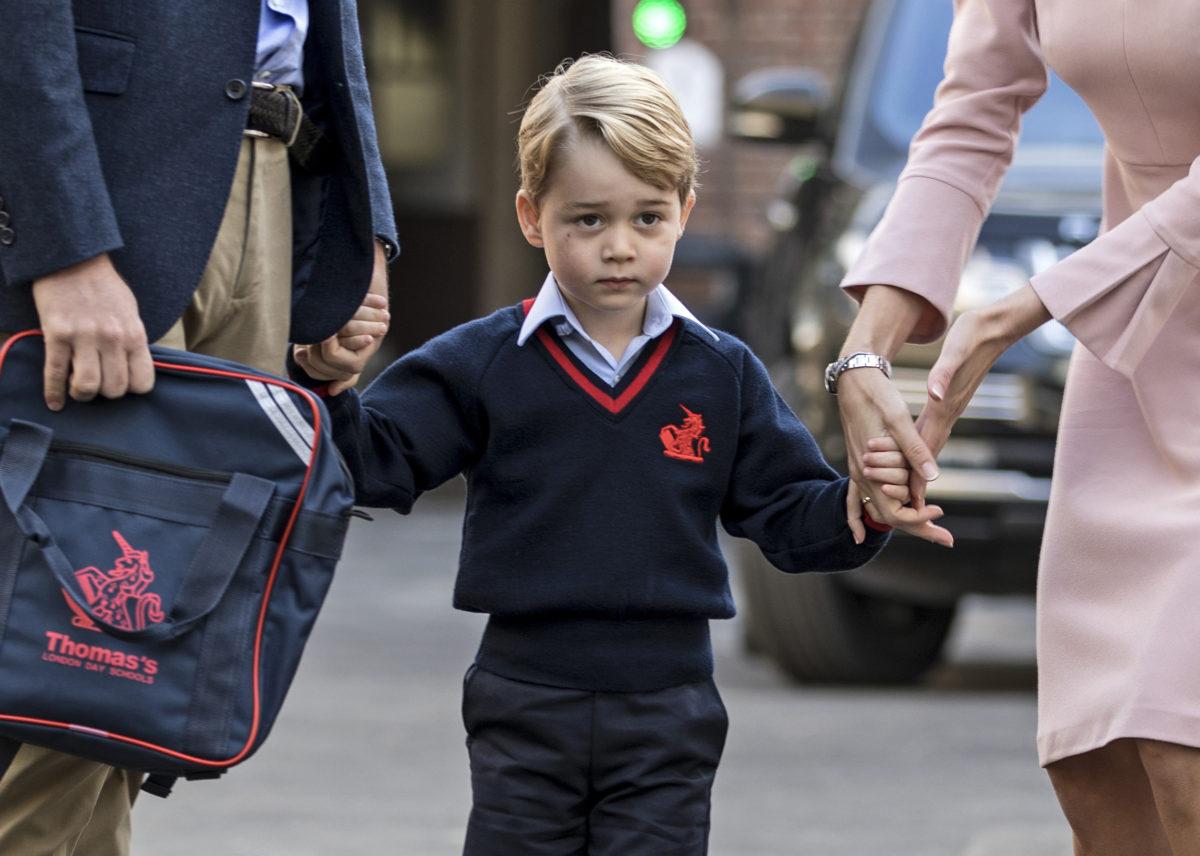 El primer día de clases del príncipe George, hijo de Guillermo y Kate