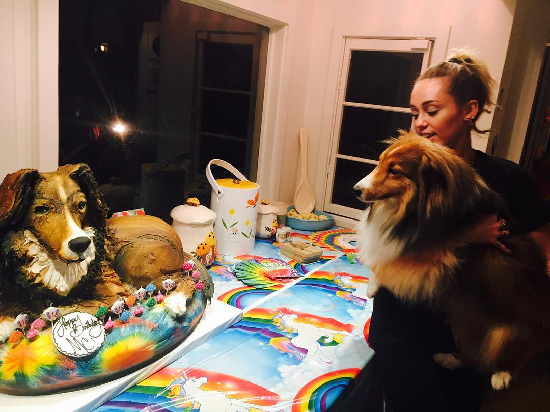 Miley Cyrus Dog Emu