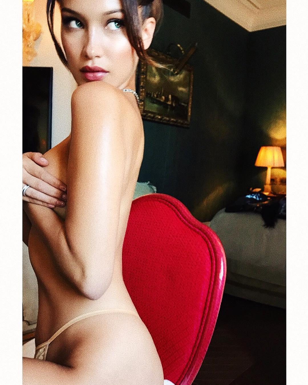 Bella Hadid Provoca En Instagram Al Desnudo Ar13cl