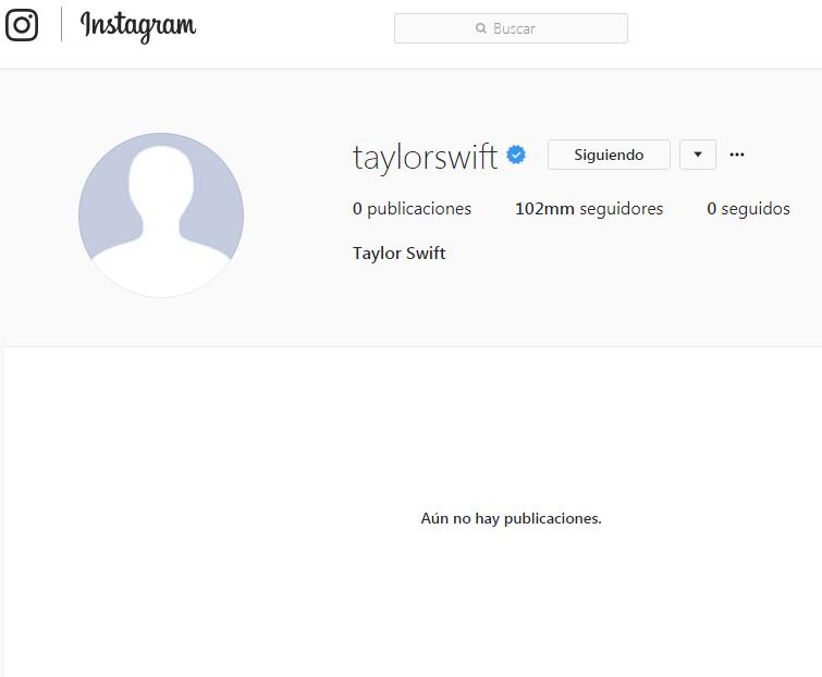 Taylor Swift desapareció de las redes sociales