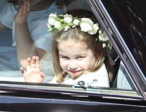 Las tiernas fotos de George y Charlotte en la boda real