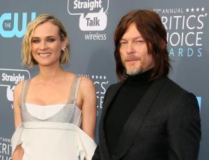 Diane Kruger y Norman Reedus debutaron como pareja en la alfombra roja