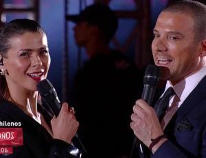 El beso de Tonka Tomicic y Julián Elfenbein en el cierre de la Teletón