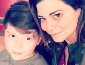Antonella Ríos sorprendió a su hijo con una importante noticia