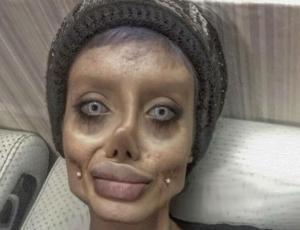 """Joven """"doble"""" de Angelina Jolie muestra su verdadero rostro"""