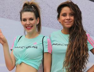 Famosas disfrutaron de masiva clase de baile en evento Adidas Wowen