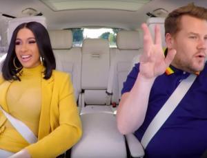 Cardi B aprendió a manejar en el Carpool Karaoke