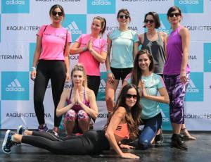 Así fue la masiva clase de yoga que lideró María José Prieto