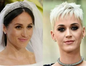 A Katy Perry no le gustó cómo se veía Meghan Markle de novia