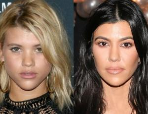 Kourtney Kardashian y Sofia Richie fueron al mismo evento