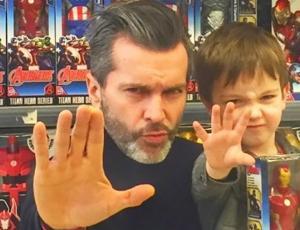 Cristián Sánchez y su hijo Facundo saben cómo molestar a Diana