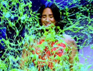"""Así reaccionó Demi Lovato al ser bañada en """"Slime"""""""