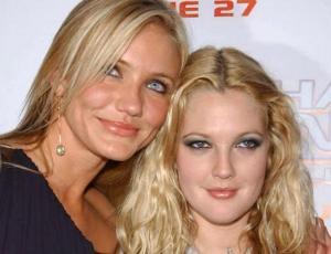 Drew Barrymore y Cameron Diaz posan sin una gota de maquillaje