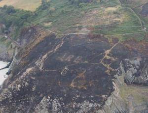 Incendio dejó al descubierto un mensaje que estuvo oculto por más de 70 años
