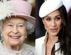La evidente complicidad entre Meghan Markle y la reina Isabel II en su primer acto