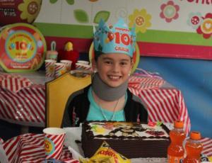Giulia Inostroza celebró sus 10 años junto a sus amigos