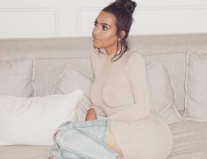 Kim Kardashian llevó a Saint West a las grabaciones de su reality show