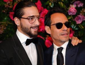 El apasionado beso entre Maluma y Marc Anthony que revoluciona la web