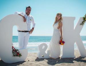 La bella boda de Carla Jara y Francisco Kaminski