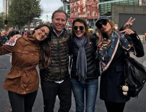 Familia de Mayte fue en patota a Londres a ver a Alexis