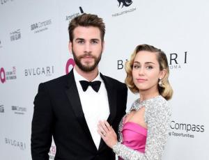 Miley Cyrus y Liam Hemsworth reaparecen en los premios Oscar