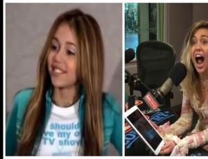 """La hilarante reacción de Miley Cyrus al revivir su audición para """"Hannah Montana"""""""
